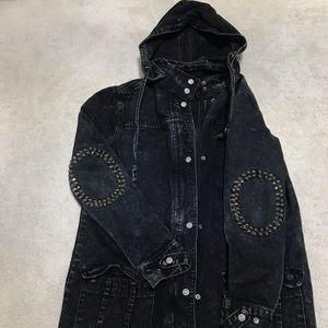 Jackets & Blazers - Urban Outfitters hooded denim jacket XS